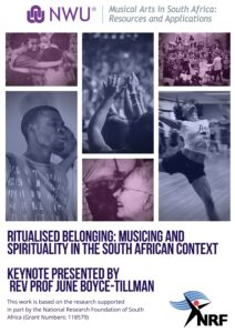 CALL FOR PAPERS: RITUALISED BELONGING: MUSICING AND SPIRITUALITY IN THE SOUTH AFRICAN CONTEXT